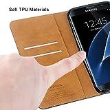 HOOMIL Galaxy S7 Edge Hülle, Handyhülle Samsung Galaxy S7 Edge Tasche Leder Flip Case Etui Brieftasche Schutzhülle für Samsung S7 Edge Cover - Schwarz (H3026) Vergleich
