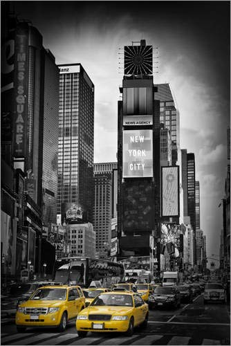 Posterlounge Acrylglasbild 60 x 90 cm: New York City Times Square von Melanie Viola - Wandbild, Acryl Glasbild, Druck auf Acryl Glas Bild