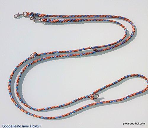 Hundeleine f. kleine Hunde Doppelleine 2,80m 4fach verstellbar Hawaii