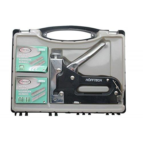 Tacker 4-14 mm Handtacker 8 und 12 mm Tackerklammern 12 mm Nägel Set im Koffer