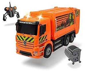 Dickie Toys 201119084-RC ANTOS Garbage Truck, teledirigido Basura Auto de Mercedes Benz, 40cm