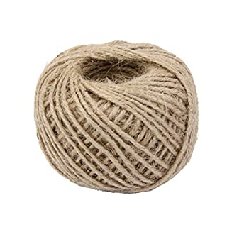 Power Ferhd 50M Wrap Gift Hemp Rope Ribbon Twine Rope Cord String Ball (Brown)