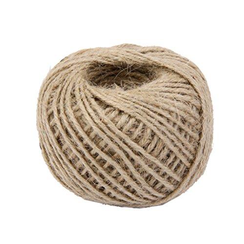 Handmade Cord (lvedu 50m DIY Wrap Geschenk Hanf Seil Band Natürliche Jute Twine Rope Handmade Cord String Ball)
