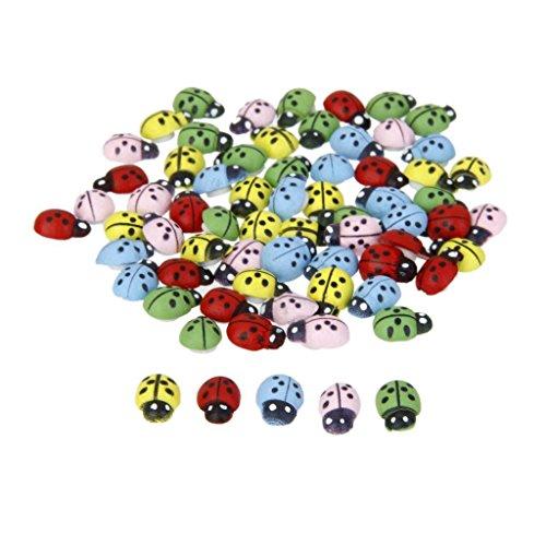 Yeah67886 - Pack de 100 mini moisés creativos para decoración de paisaje y mariquitas, multicolor