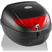 TRESKO® Motorradkoffer/Helmkoffer, 24 Liter Füllvolumen, Topcase universal, für Roller, Motorräder, Mofas und Quads