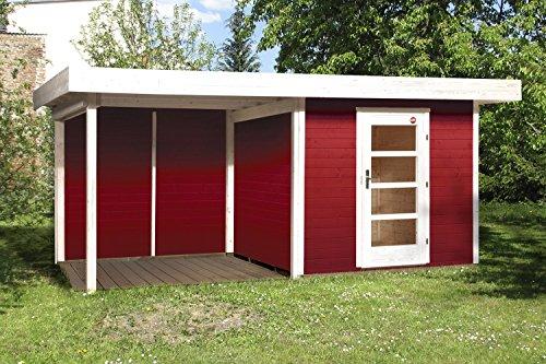 Weka Gartenhaus 172 Größe 2 schwedenrot