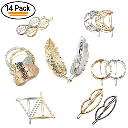 Metal Hair Clips, Vibury Pack of...