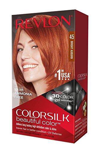 revlon coloration permanente colorsilk beautiful color couleur radieuse longue tenue couleur 45 auburn clair - Revlon Coloration