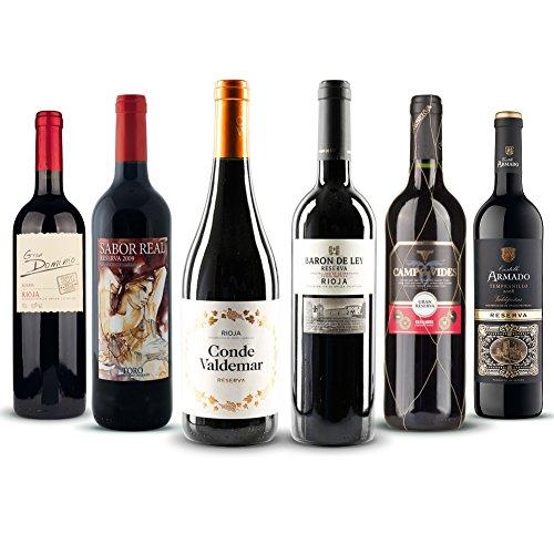 Wein Probierpaket Reserva - Reise # eine kulinarische Reise durch die Weinwelt Spaniens # mit 6 x 0,75 Liter # die besten spanischen Reservas im Set