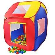 Con tenda questo super grandi per bambini con 200 palle i vostri bambini avranno un grande gioco. La tenda del gioco è fornito con una custodia per il trasporto, dove i singoli elementi possono essere memorizzati in modo salvaspazio. Le numer...