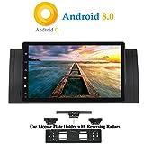 XISEDO Android 8.0 Autoradio In-Dash 9 Zoll Car Radio 8-Core RAM 4G ROM 32G Autonavigation Car Radio mit Multitouch-Bildschirm für BMW 5-E39/BMW X5-E53 Unterstützt Lenkradkontrolle, RDS