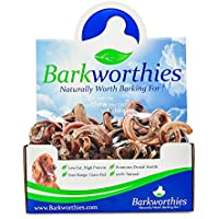 barkworthies American Curly Bully Sticks Chewable Digestible Pet Dog Chew Treat