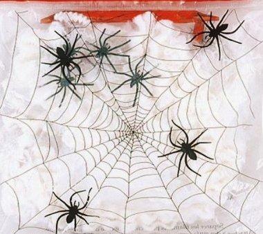 Fun Halloween Fake Spider Web Black Spiders Party Decoration
