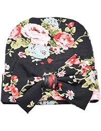 TININNA Bonnets Nouveau Né Coton Crochet Papillons Chapeau Bébé Garçon  Fille Naissance Tricot ... 710907d2413