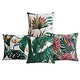 Amerikanische Kissen Flamingos und Palm Leaf Moderne Kunst Baumwoll Leinen Kissenbezug Komfortable Kissen Dekorative Kissen Home Decor Sofa Throw Pillow Case Set von 4 Kissenbezug