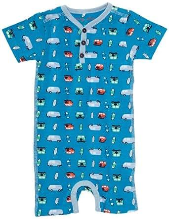 NAME IT Baby - Jungen Spieler 13084147 IBRAHIM CU NB SS SUNSUIT, Gr. 74, Mehrfarbig (DRESDEN BLUE)