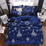 Bettwäsche für das ältere Schlafzimmer, Herbst und Winter, schöne Bettwäsche, Obst-Set von drei oder vier Sätzen von Weihnachten US-Twin