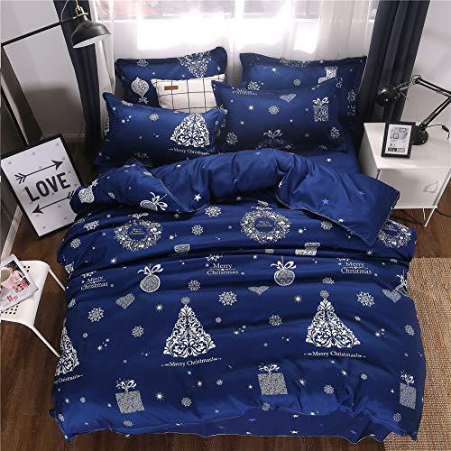 Bettwäsche für ältere Menschen, Herbst und Winter, schöne Bettwäsche, Obstset mit drei oder vier Sätzen Weihnachts-JP-Single