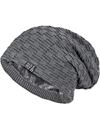 caripe warme Winter Mütze Fleece Innenfutter gefüttert Long Beanie