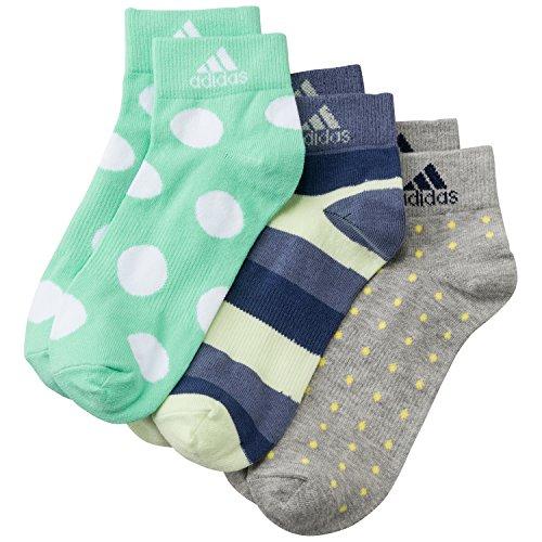 adidas Damen Socken PER GR AN T 3PP, Megreythr/Greenglow/Supepurpl, 43-46, AJ9655