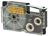 CASIO EZ-Label Printer XR-9GD1 Schriftband selbsthaftend 9 mm x 8,0 m schwarz auf gold