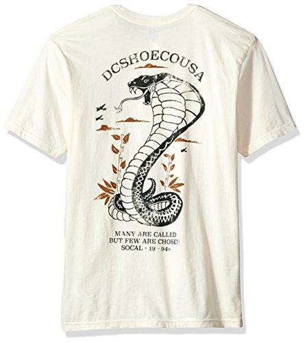 DC Mens Siamenom Short Sleeve Tee Shirt Antique/White