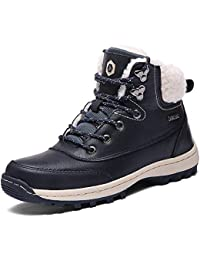SIXSPACE Hombre Mujer Botines Zapatos Botas Nieve Invierno Botas Impermeables Fur Forro Aire Libre Boots