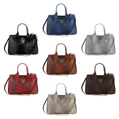Made Italy , Sac bowling pour femme 34x23x18 cm (BxHxT)