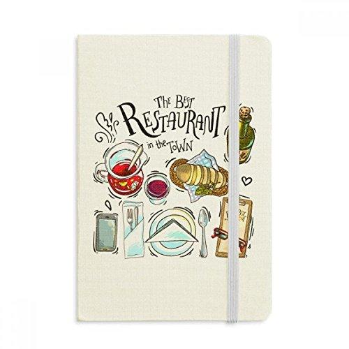 DIYthinker Das beste Restaurant in der Stadt gewinnt Notebook Stoff Hard Cover Klassisches Journal Tagebuch A5 A5 (144 X 210mm) Mehrfarbig (Restaurant Journal)