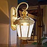 FEI Lámpara de Pared Europea al Aire Libre a Prueba de Agua oxidada Luces de la lámpara de Cobre lámpara del Pasillo del Hotel Villa Pasillo Luces del balcón,Pequeña