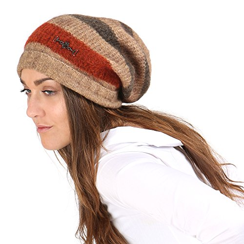 Trussardi Jeans Chapeau Femme Mod. 569515 Beige - Rouge - Marron