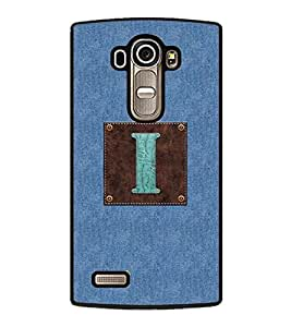YuBingo LG G4 :: LG G4 Dual LTE :: LG G4 H818P H818N :: LG G4 H815 H815TR H815T H815P H812 H810 H811 LS991 VS986 US991 2D Designer Phone Back Case Cover ( Monogram with Beautifully Written Jeans and Macho Male Leather Finish letter I )