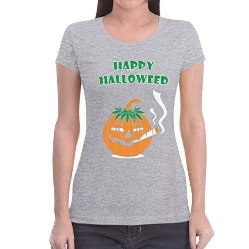 Happy Halloweed Cooles Halloween Outfit Kürbis Dope Frauen T-Shirt XX-Large Grau