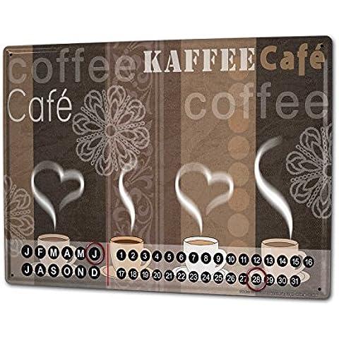 Calendario perpetuo Coffee Cafe Bar Strassek tazze di caffè Magnetico