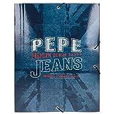 Carpeta con Gomas Pepe Jeans Dales Jr. azul