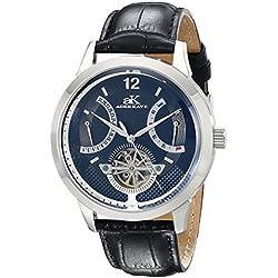 Adee Kaye Herren ak2241-m/BK PROSPERE Analog Display Automatische selbst wind black watch