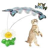 Pet Katze Kätzchen Spielen Spielzeug Elektrische drehendem Schmetterling Bird Stahldraht Cat Teaser Toys