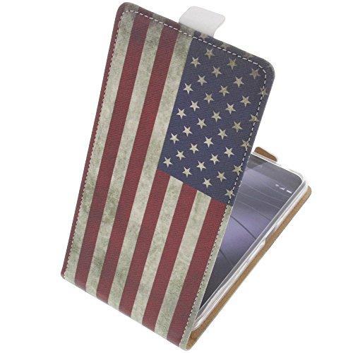 foto-kontor Tasche für Gigaset Me Pro Flipstyle Schutz Hülle Handytasche Flagge US
