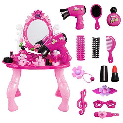 Make-up-starter (starter Prinzessin Make-up Set - Prinzessin Makeup Box Schminktisch Pretend Schminktisch Set Kleines Mädchen Prinzessin Mode Spielzeug Kind Make-up Spielzeug Set Spielhaus Kosmetik (Farbe angeben))