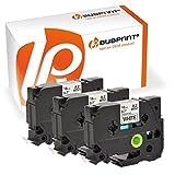 Bubprint 3 Schriftbänder kompatibel für brother TZE-241 TZE 241 für P-Touch 1000 1750 1800 1850 1950 210E 220 2400 2430pc 2450dx 2460 2470 2480 18mm
