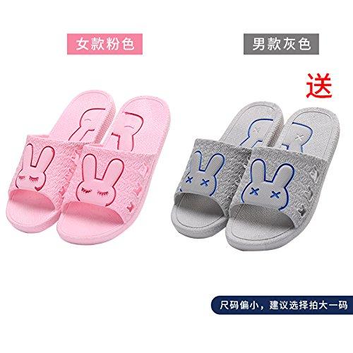 DogHaccd pantofole,Il bagno pantofole donne indoor estate anti-slip da bagno soggiorno di casa con un paio di pantofole fresca estate maschio Toner + grigio4