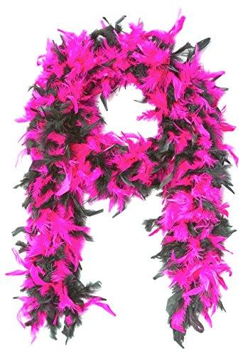 Forum Novelties Hot Pink/Schwarz Flapper Feder Boa - Hot Pink Boa