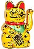 Nerd Clear® 18cm Winkekatze MANEKI NEKO Gold