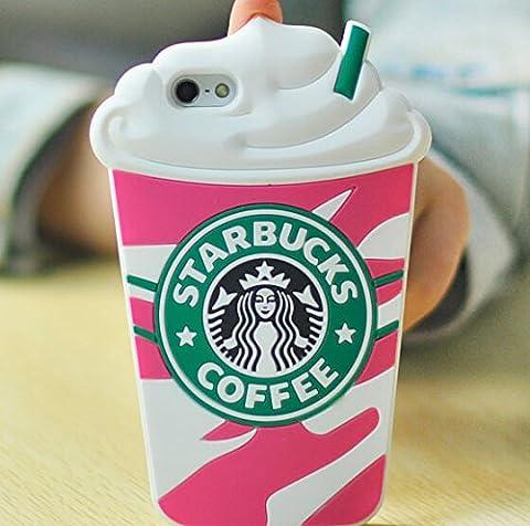 Starbucks Glace 3D Coque souple en Silicone, rouge, Iphone 6