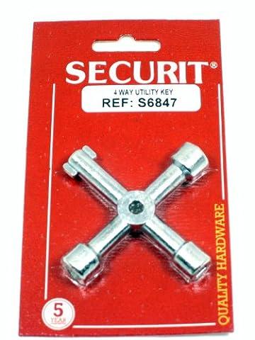 Securit Tableau noir zinc plaqué 4Way Utility Clé–Ouvre l