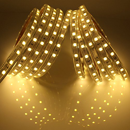12M Led stripes mit Schalter, 5050 IP65 Led Band, 220V, Warmweiß