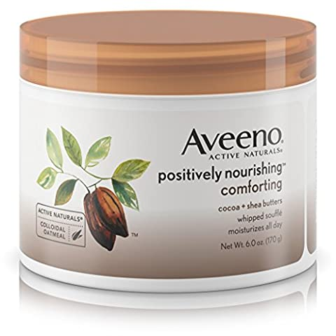 Aveeno Positively Nourishing Whipped Souffle Body Cream, 6 Ounce