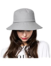 f5ca81e4fa3 Bucket Hat Womens Summer Sun Hats Foldable Wide Brim UV Protection Safari  Fisherman Caps with Boonie