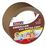 Tesa Emballer Adhésif de Fermeture PVC Extra Fort Marron 40m x 50mm