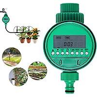 Gesentur Control Automático de riego electrónica Agua Temporizador Digital de riego Controlador Tiempo Cuchillo para Jardín Maceta Pantalla LCD, Batería operativos